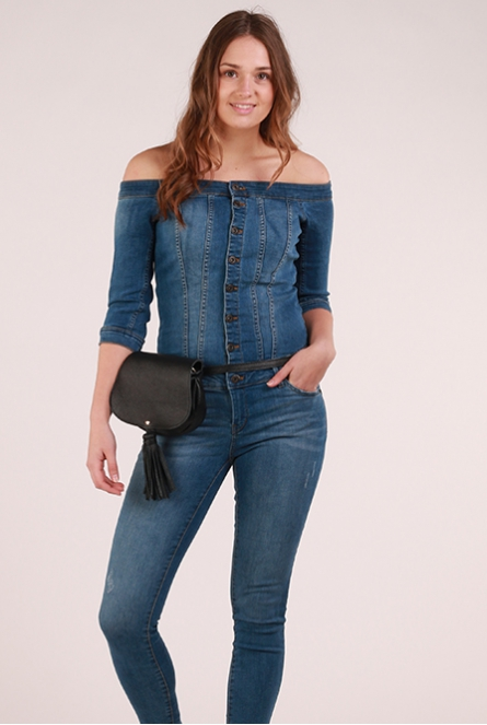 Denim Jumpsuit Julia Medium Blue Denim