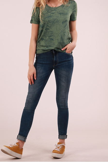 Jeans Emily Mid Waist Push Up Dark used