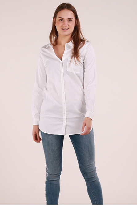 Lange Blouse Basic Wit