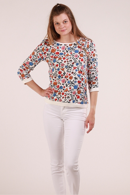 Sweater met print Wit