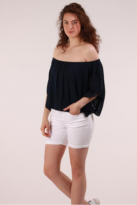 Off-shoulder Blouse Blauw