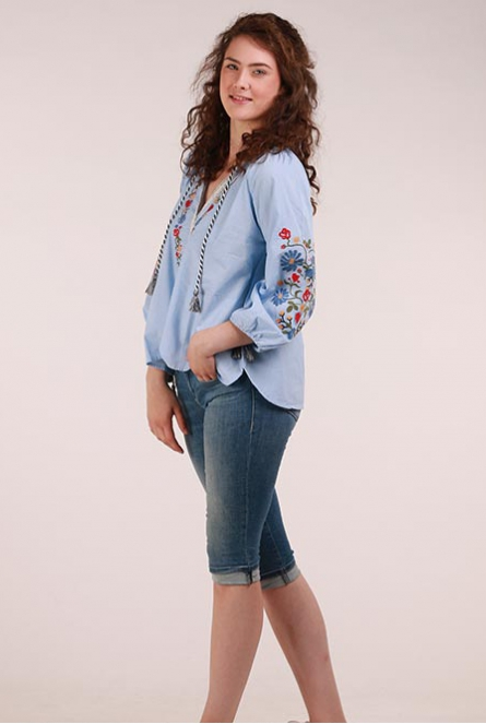 Blouse  Mid Blue Chambray
