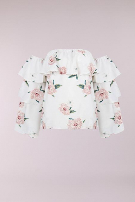 off-shoulder Blouse Nicoline Wit