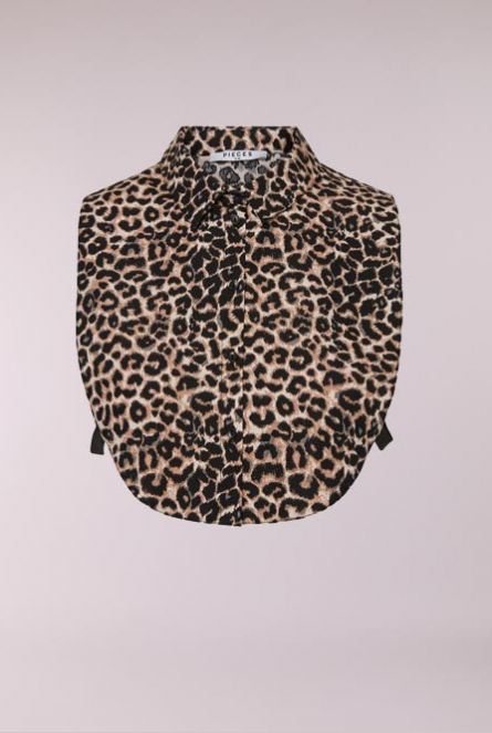 Leopard print Kraagje Biver Black/WITH BLACK-BROWN LEO PRINT