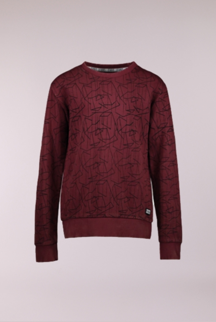 Sweater Lowell Bordeaux rood