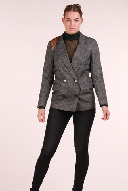 Glitter Blazer Slash Dark Grey