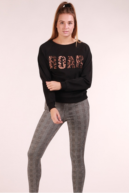 ROAR Sweater Tessa Black/ROAR