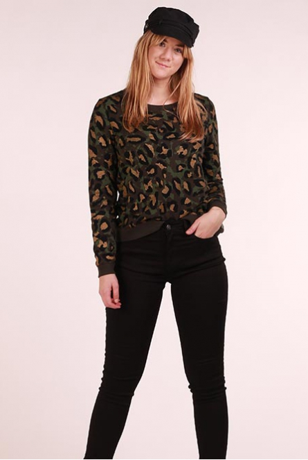 Leopard Sweater Annalise Groen