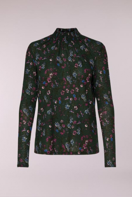 Shirt Svan met turtle neck Groen
