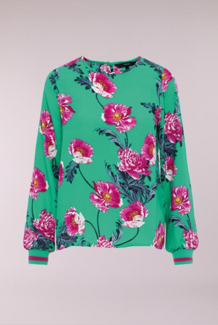 Blouse Holly met bloemenprint Holly Green/HOLLY PRINT
