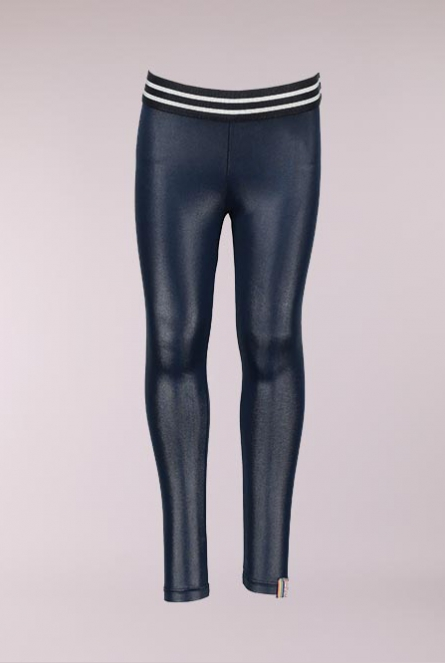 Leather look Legging Blauw