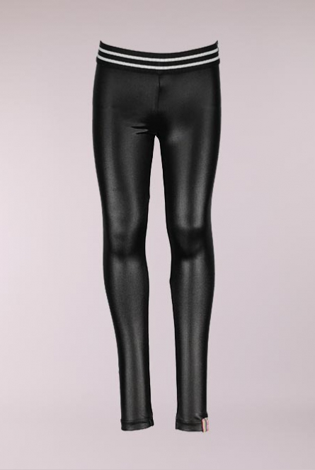 Leather look Legging Zwart