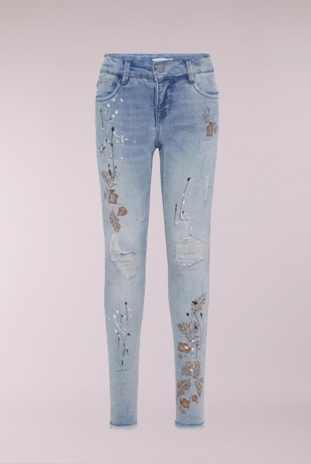Jeans Polly spetters Blauw