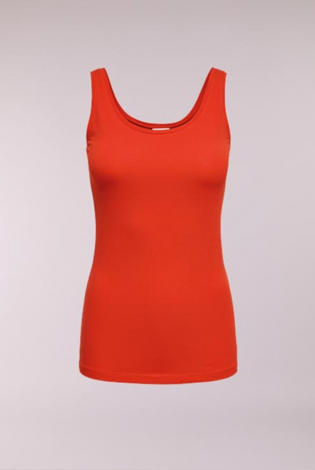 Basic Top Ava Fiery Red