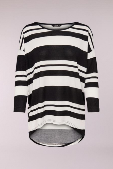 Shirt Elcos print Black/THIN/ THICK STRIPES
