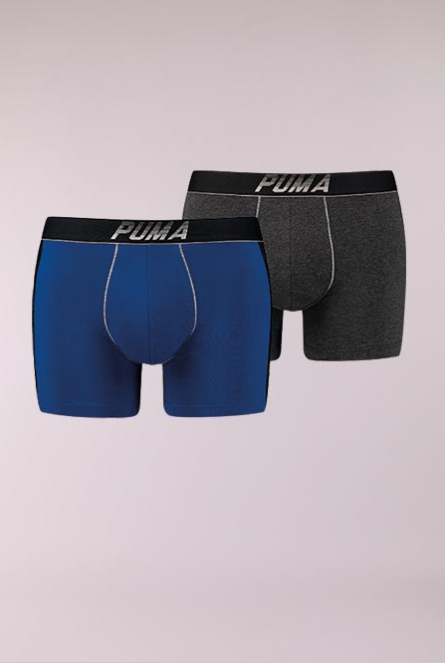 Boxershorts 2-pack 560-blue / silver