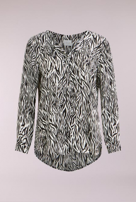 Blouse Lucy print Wit