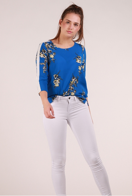 Blouse Casa Surf the Web/FLOWER BLUES