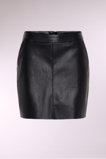 leather look Rok Yours Black