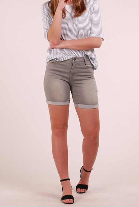 Denim Short Salina Grijs