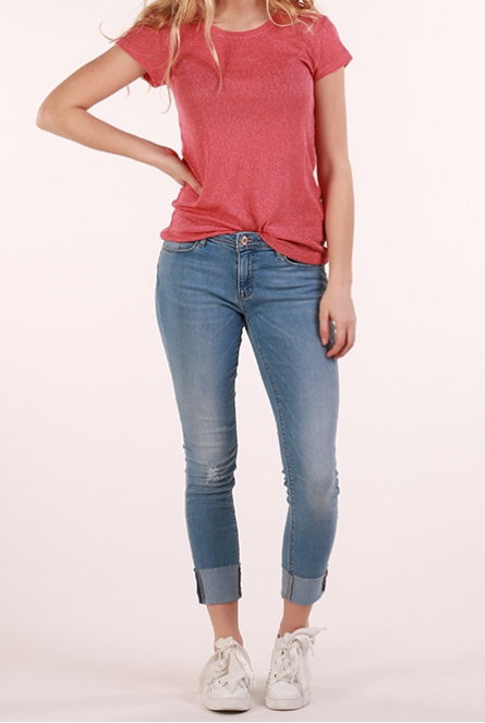 Jeans Carmen met omslag Light Blue Denim