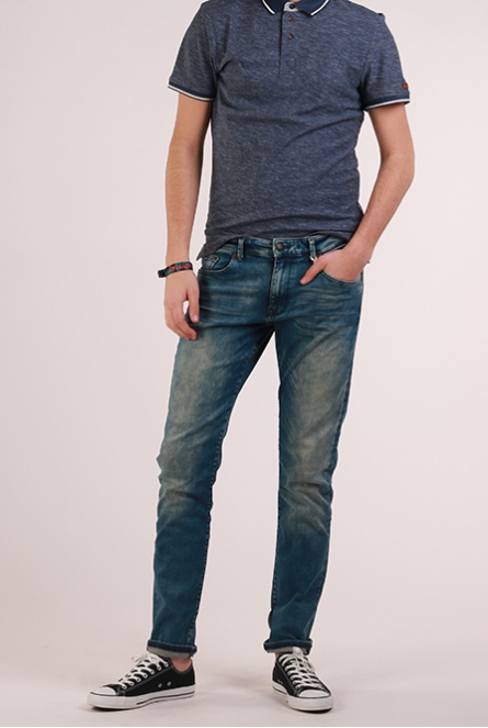 Jeans Seaham supreme stretch Blauw