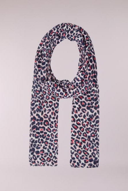 Leopard print Sjaal Larina Candy Pink