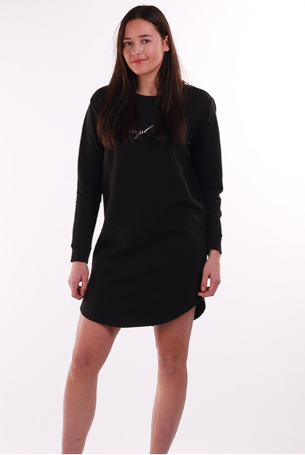 Sweat jurk Tori borduur Black/SIMPLICITY_EMB