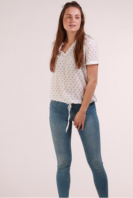 lovely print blousetop Shirts Wit