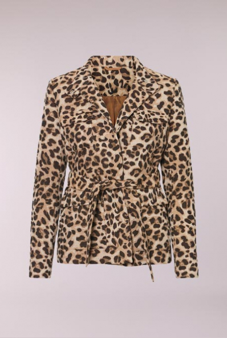 Jas Satina leopard print Black/JAQUARD ANIMAL