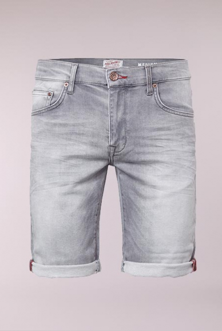 Denim Short Grijs