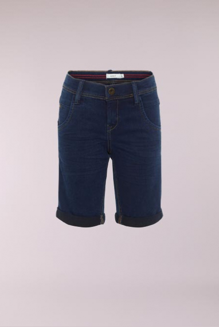 Denim Short Sofus Dark Blue Denim