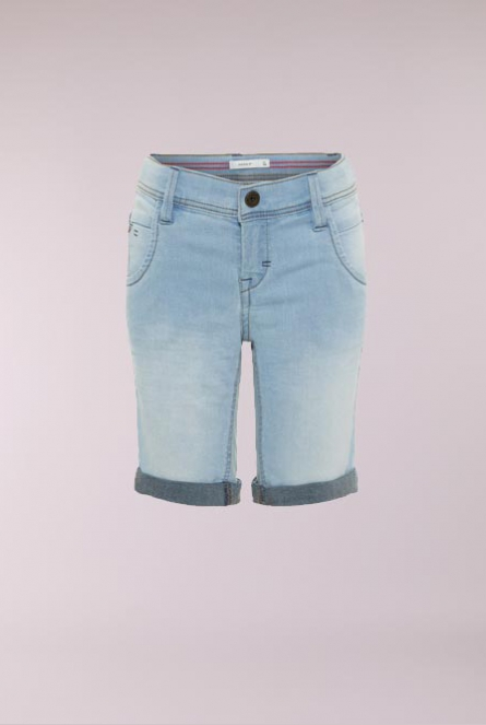 Denim Short Sofus Light Blue Denim