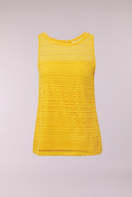 6536bd9d0a Tom Tailor Kanten Top golden yellow Yello