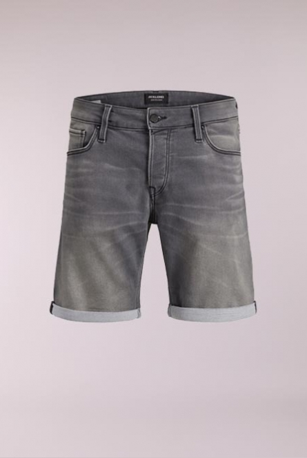 Denim Short Rick Grijs