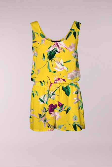Bloemenprint Playsuit Simply Geel