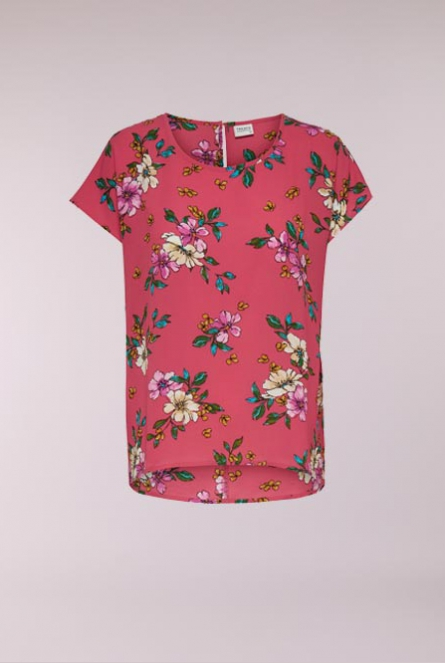 Blouse Trick Cayenne/PINK FLOWER