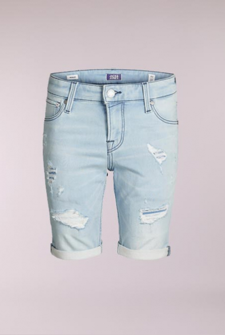 Denim Short Rick Icon Blauw
