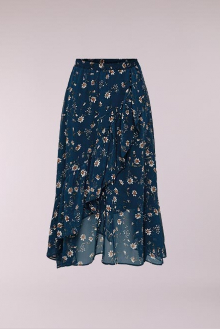 a9ac5484813538 ONLY Lange Rok Sheena met bloemenprint Insignia Blue FLOWER FIELD