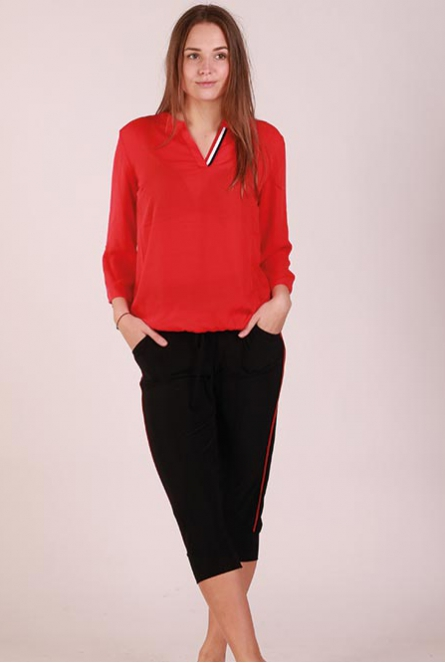 Blouse Tape Rood