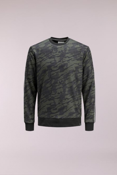 Camouflage Sweater Industrial Groen