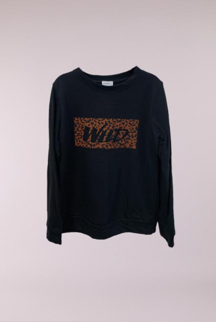 Sweater WILD Zwart
