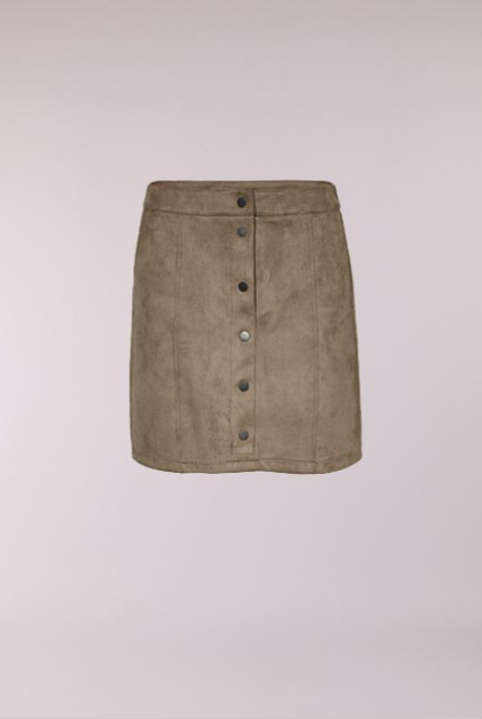 Suede look Rok Donnaray Groen