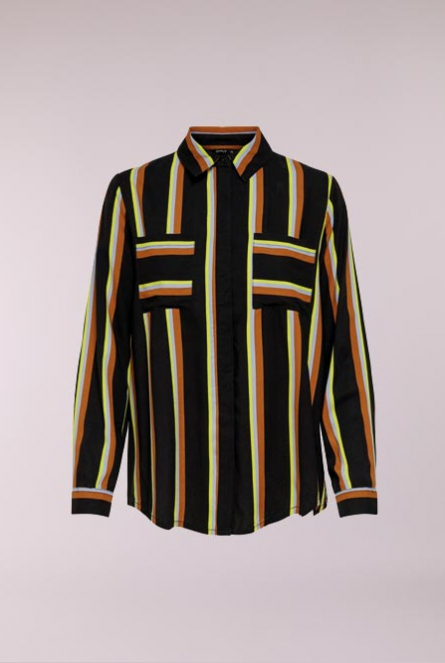 Gestreepte Blouse Mai Black/COOL STRIPE BIAS
