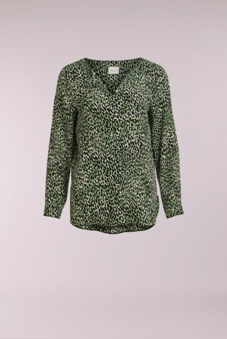 Blouse Lucy print Groen
