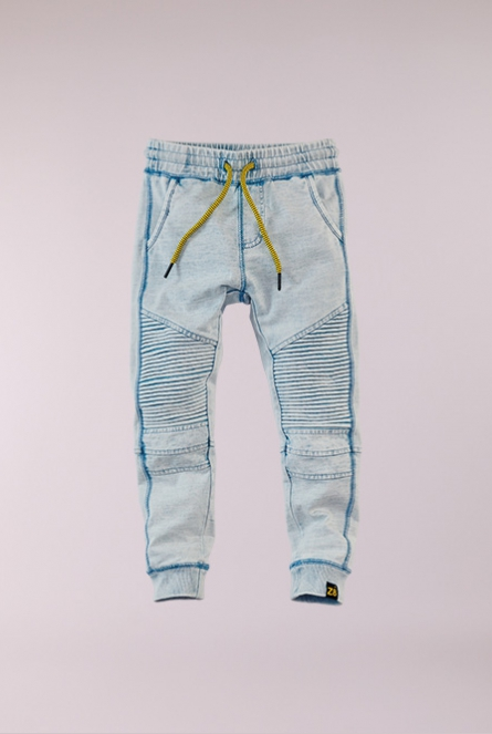 Denim look sweat Broekje Dean Blauw