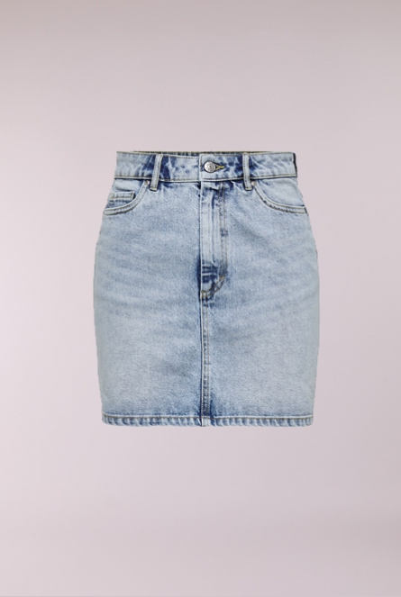Denim Rok Rose Blauw