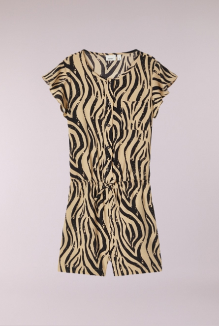 animal print Playsuit Kinaya Zwart
