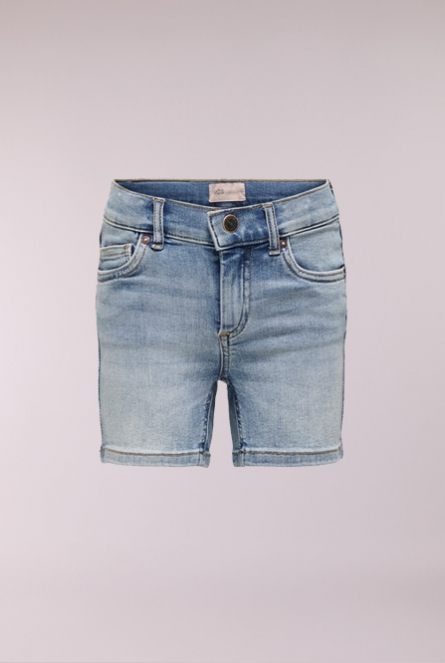 denim Short Blush Blauw
