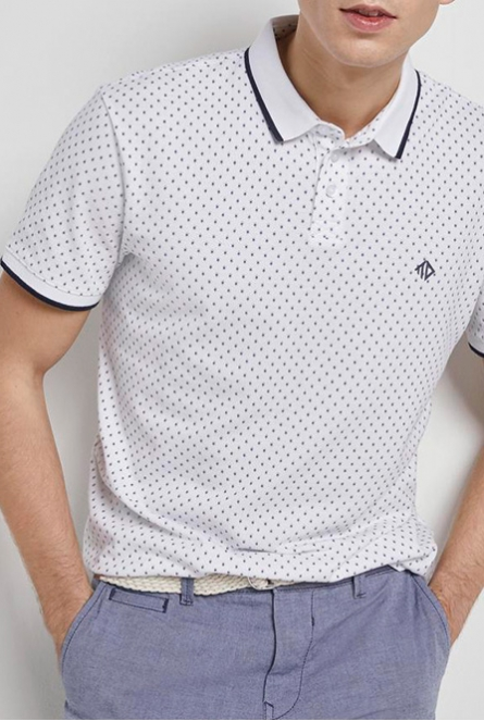 Polo met print Wit
